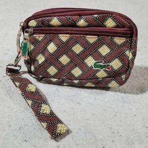Lacoste Triple-Zipper Brown Wallet/Clutch/Wristlet